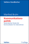 Manfred Bruhn - Kommunikationspolitik