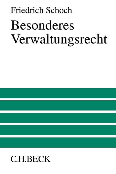 B. Materielles Polizei und Ordnungsrecht | Beck eLibrary